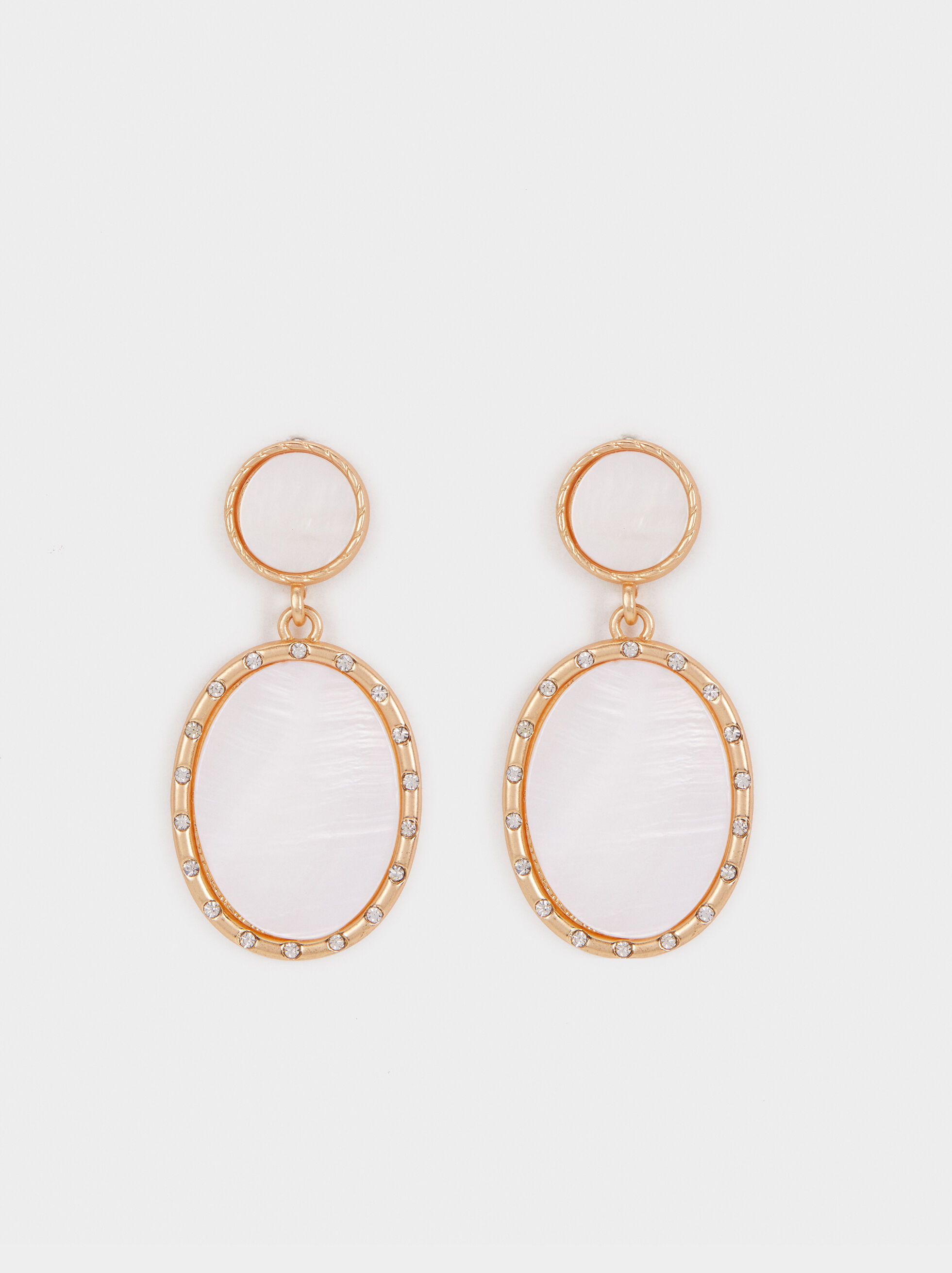 Medium Earrings With Mother-Of-Pearl Detail, , hi-res