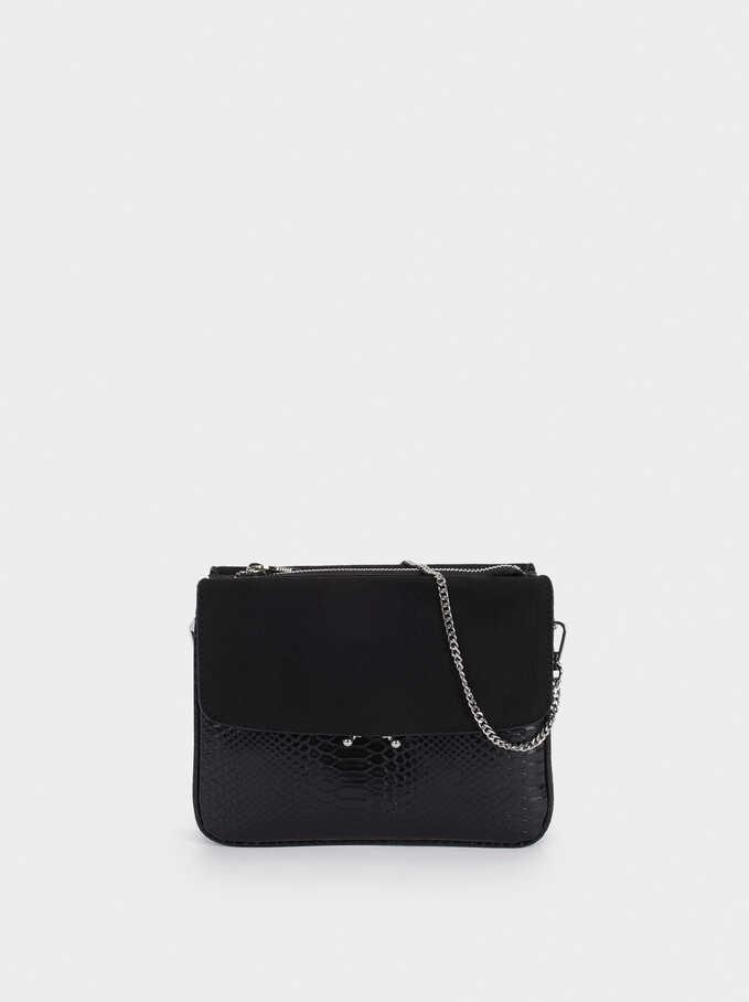 Crossbody Bag With Matching Front Flap Closure, , hi-res