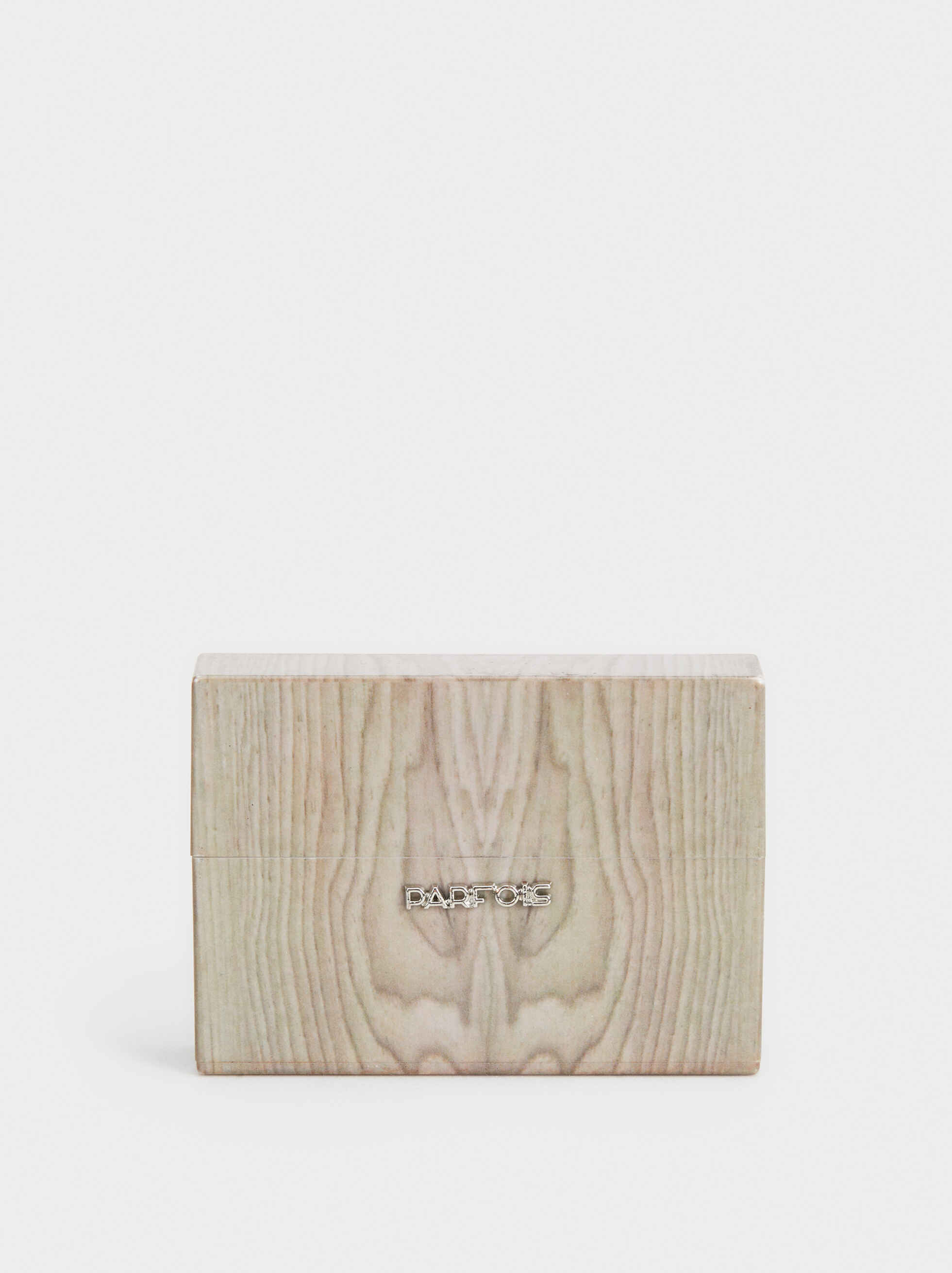 Faux Wood Cigarette Box, Beige, hi-res