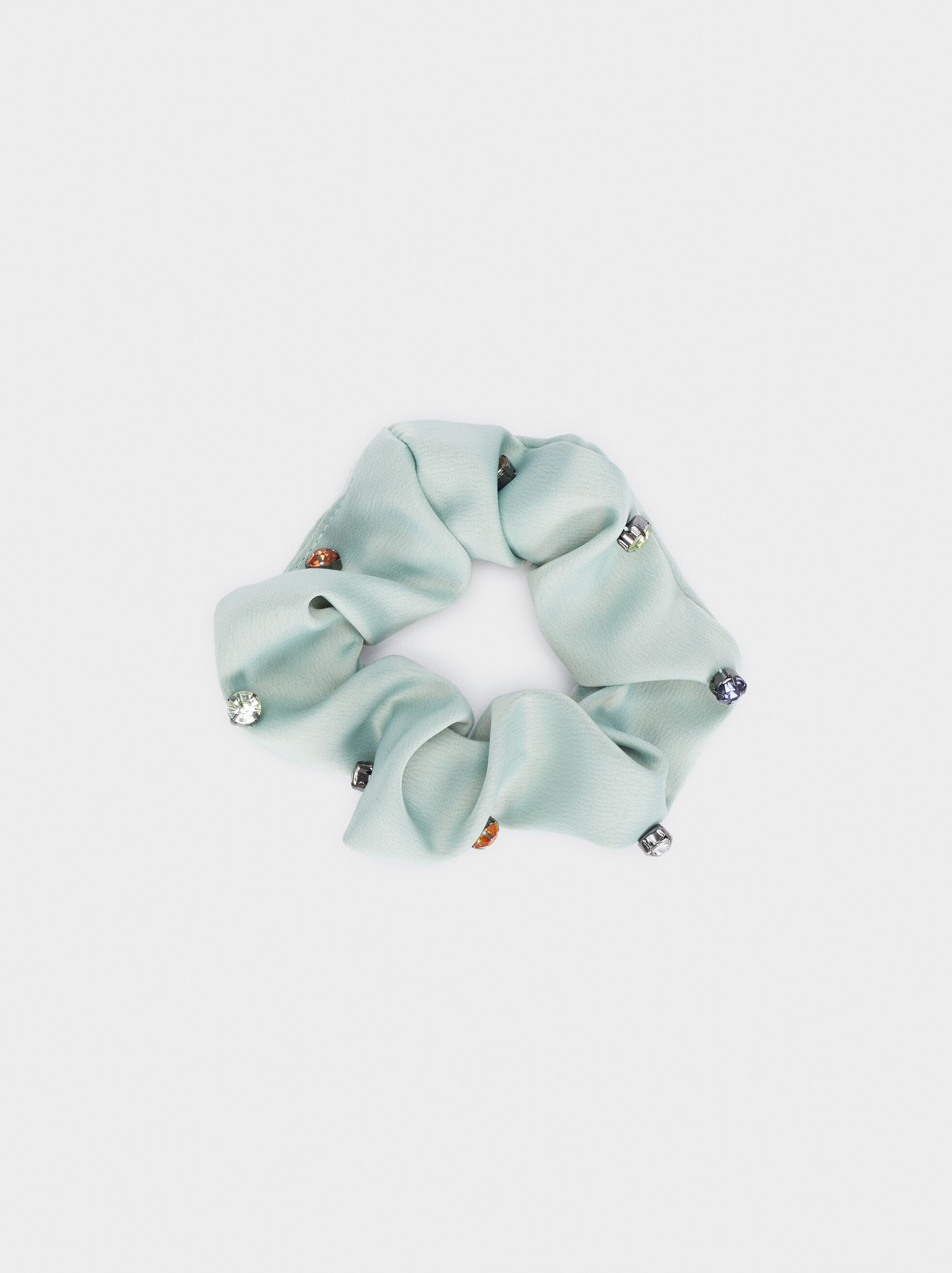 Scrunchie With Contrast Details, , hi-res