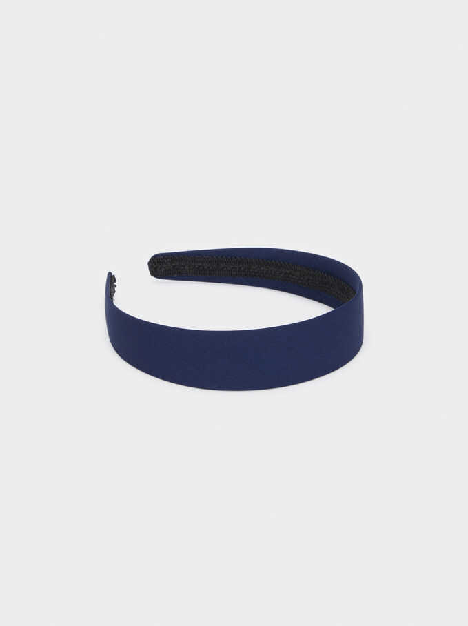 Plain Headband, Blue, hi-res