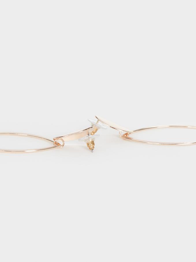 Leaf Dangle Earrings , Orange, hi-res