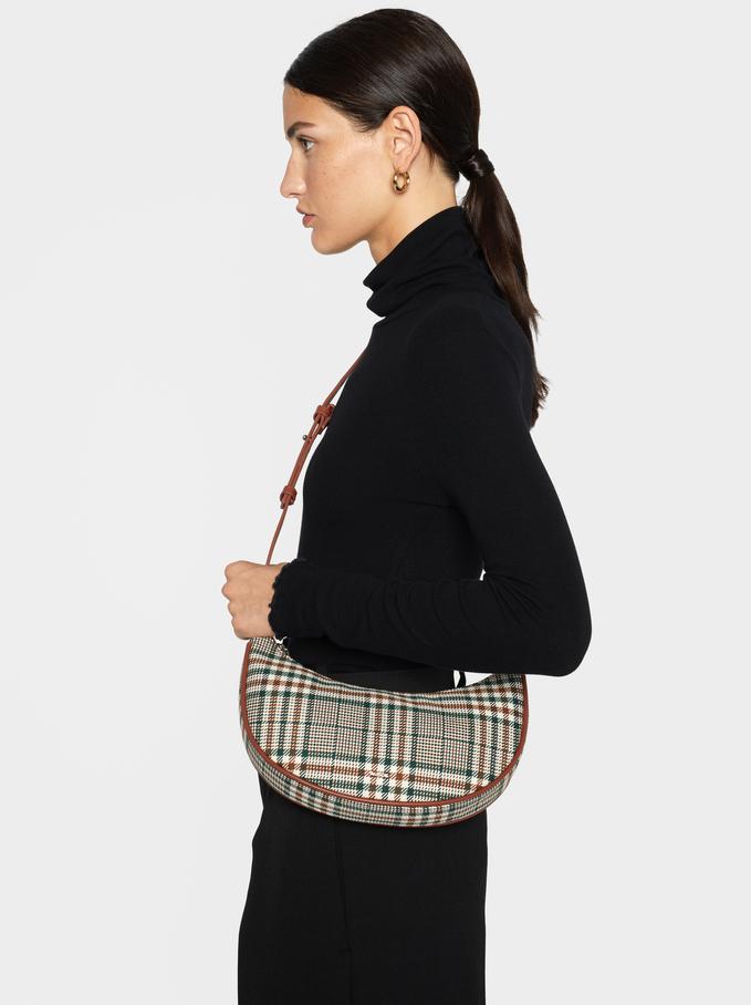 Chequerboard Baguette Bag, Green, hi-res
