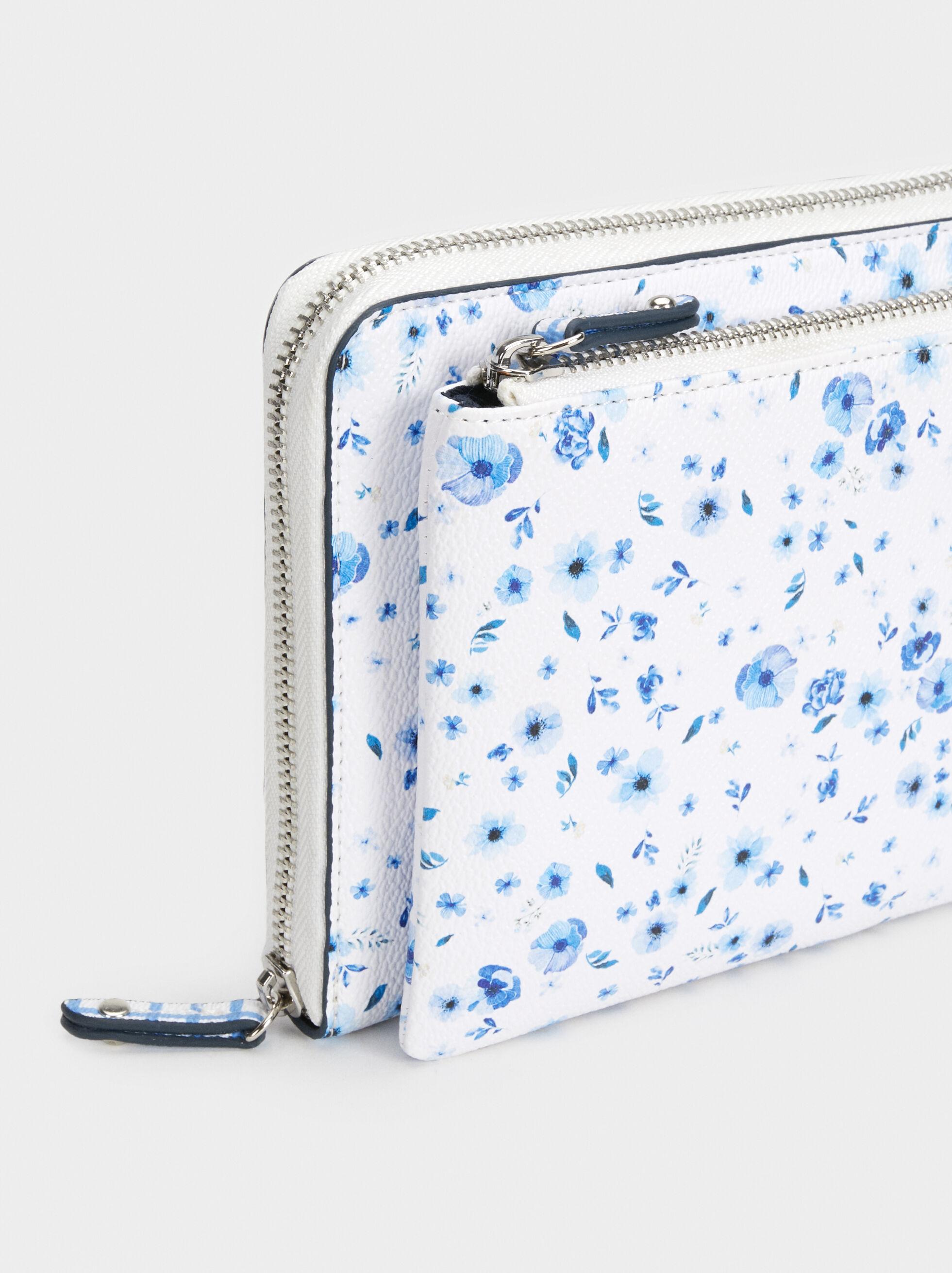 Floral Print 2019/2020 Diary, Blue, hi-res