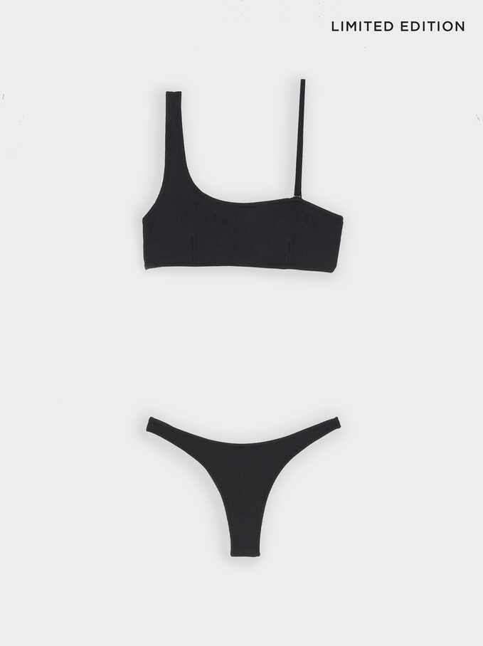 Limited Edition Bikini With Detachable Strap, Black, hi-res