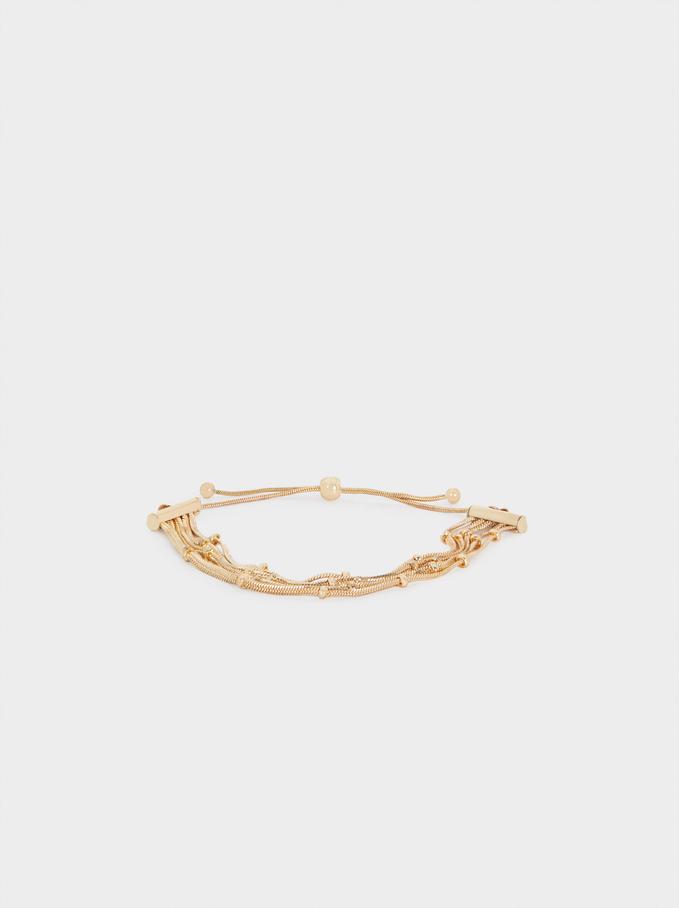 Adjustable Gold Bracelet, Golden, hi-res