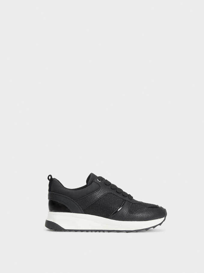 Running Basic Sneakers, Black, hi-res