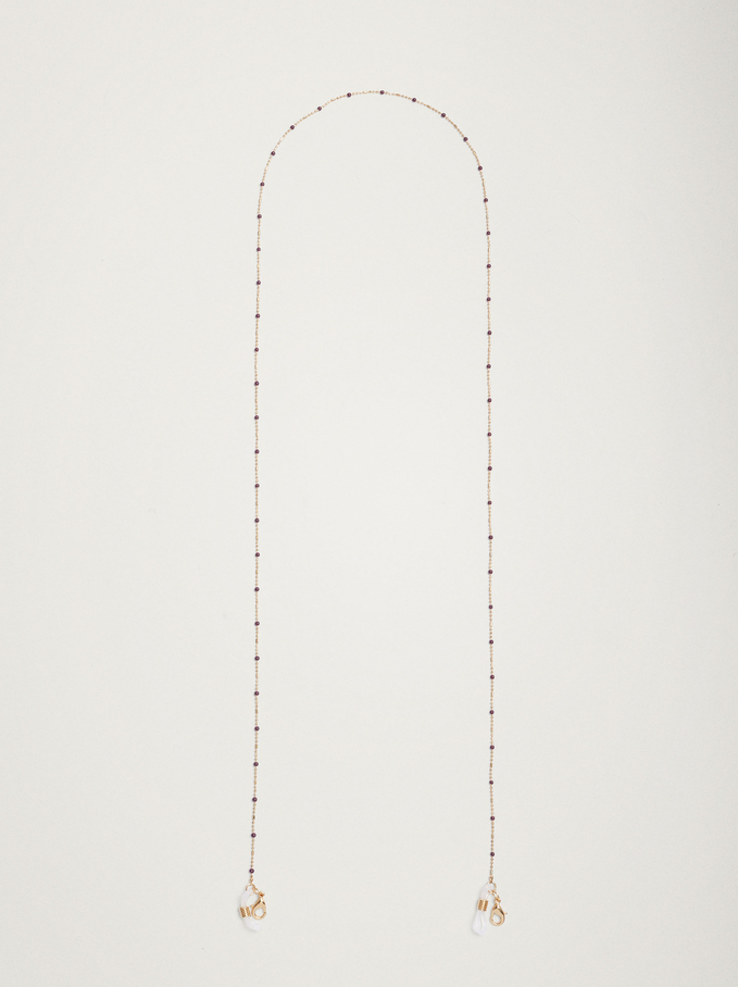 Chain For Face Masks Or Glasses, Purple, hi-res