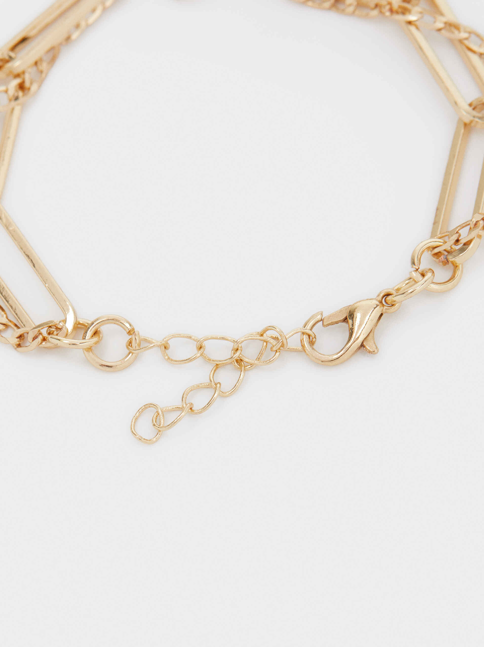 Gold-Toned Bracelet With Pearl, Golden, hi-res