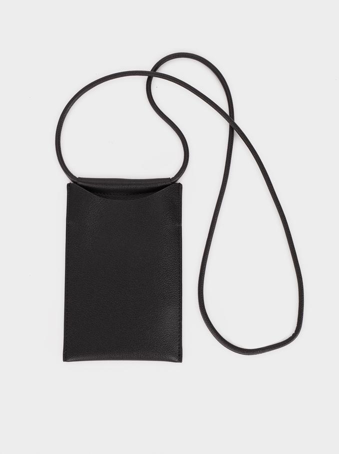 Housse Pour Téléphone Portable À Bandoulière, Noir, hi-res