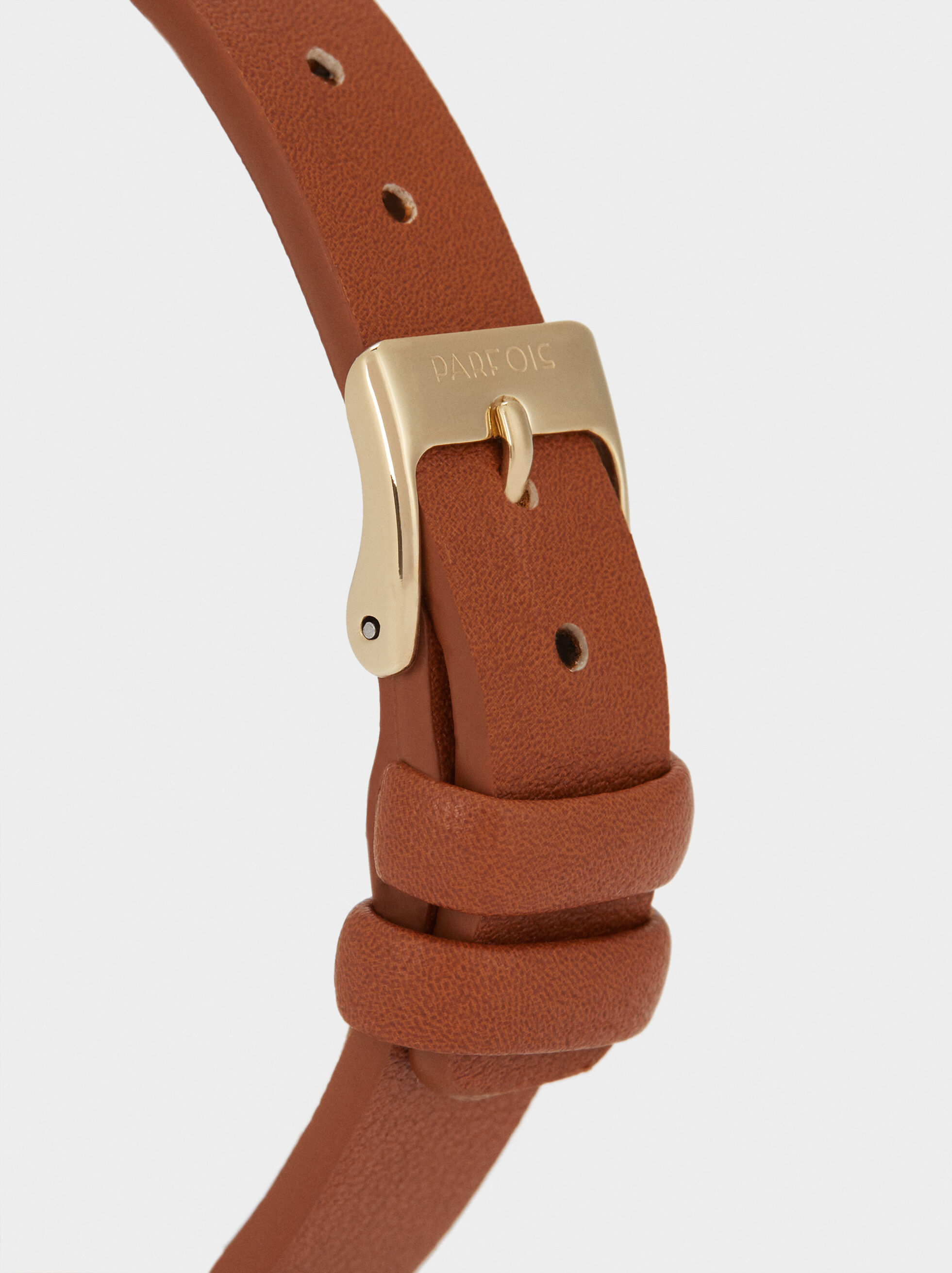Watch With Metallic Detail Strap, Brown, hi-res
