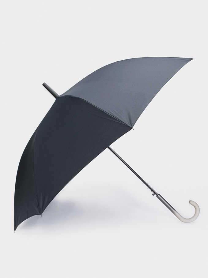 Large Folding Umbrella, Black, hi-res