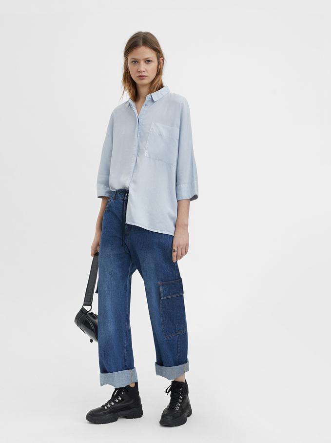 Plain Shirt, Blue, hi-res