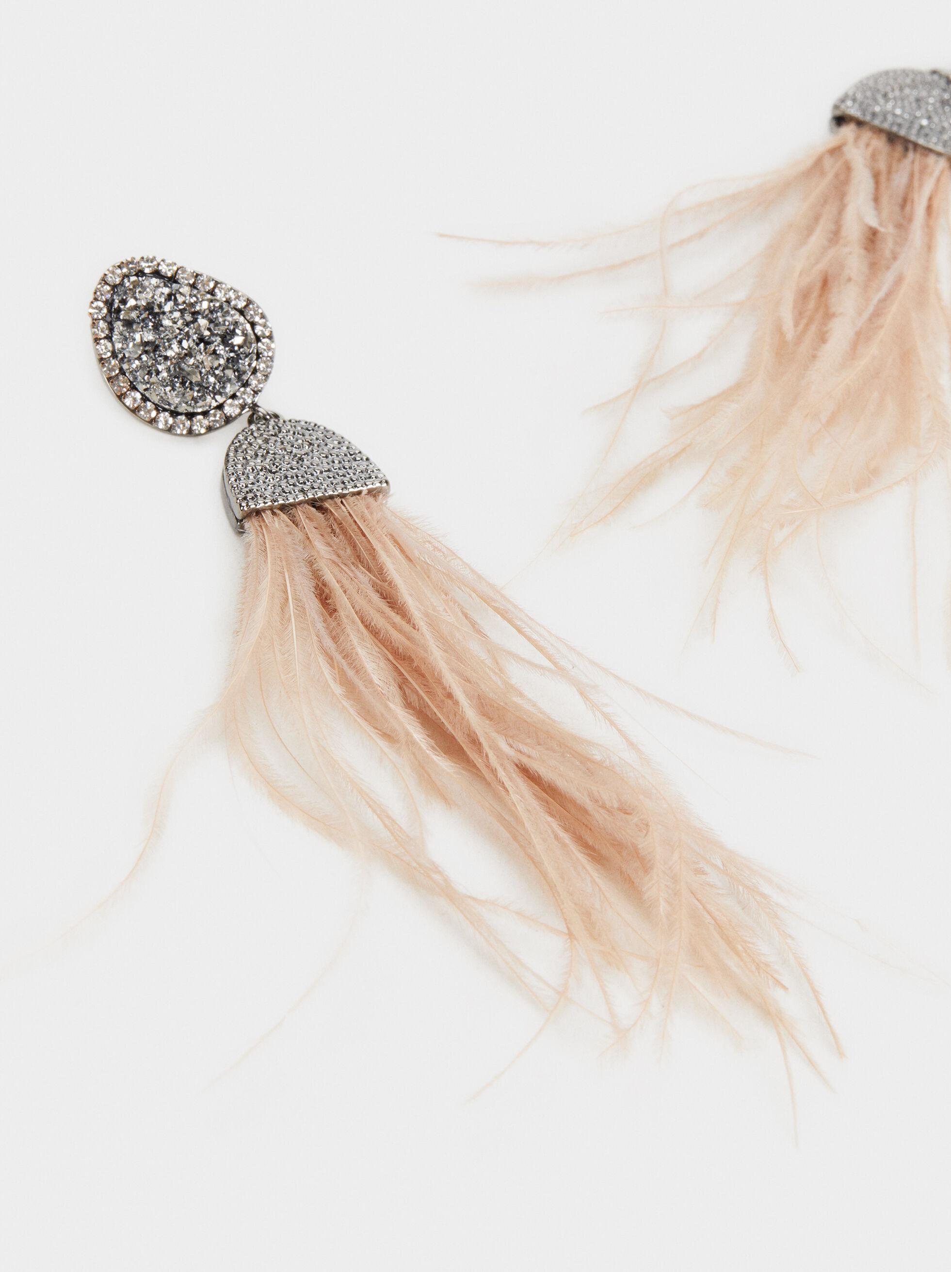 Party Earrings, Pink, hi-res