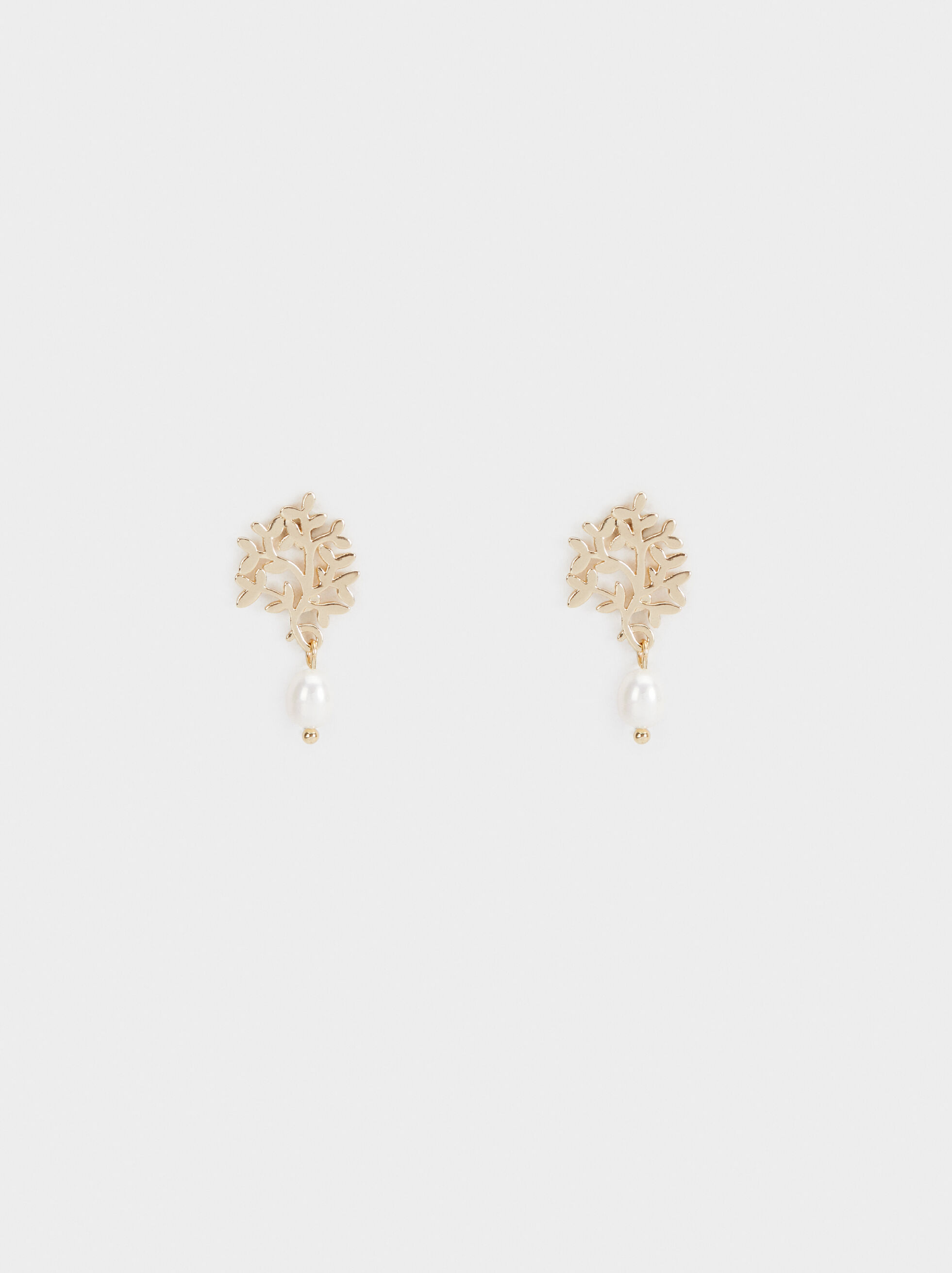 Medium Earrings With Faux Pearl Charm, , hi-res
