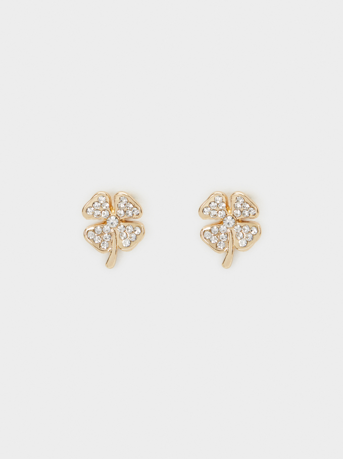 Small Clover Earrings, , hi-res
