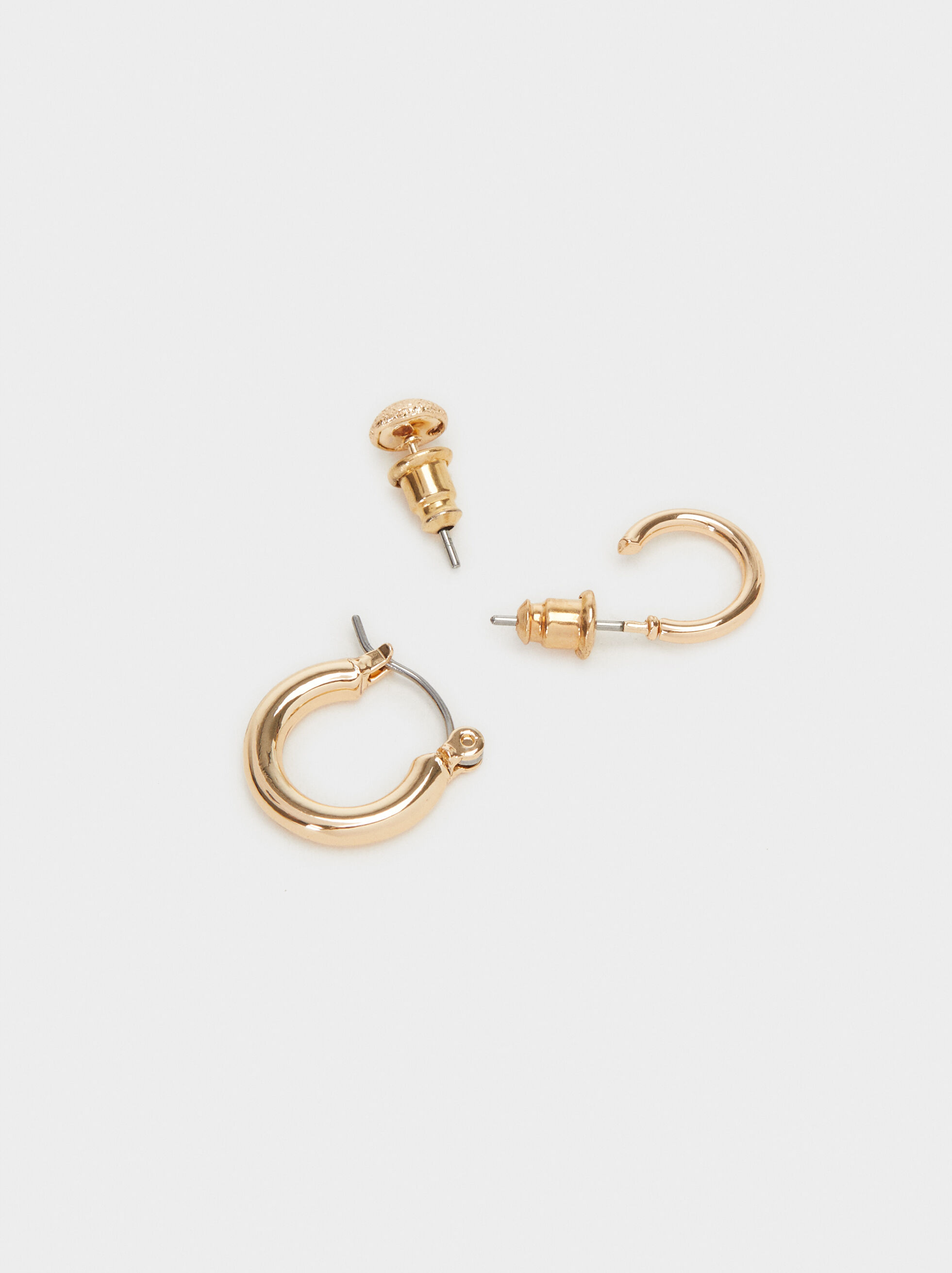 Set Of Hoop Fever Earrings, Golden, hi-res