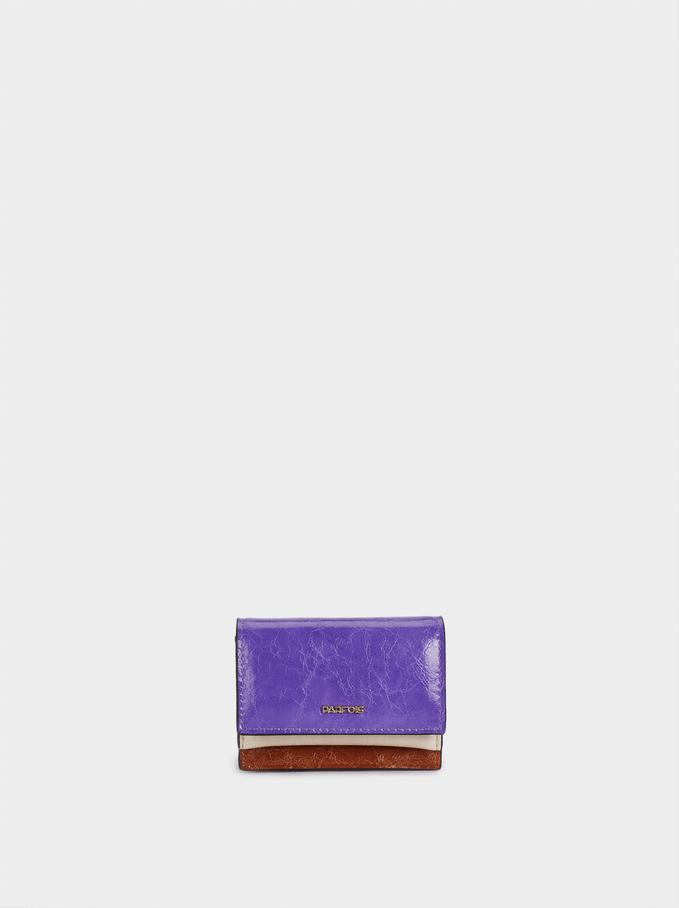 Plain Purse With Card Holder, Violet, hi-res
