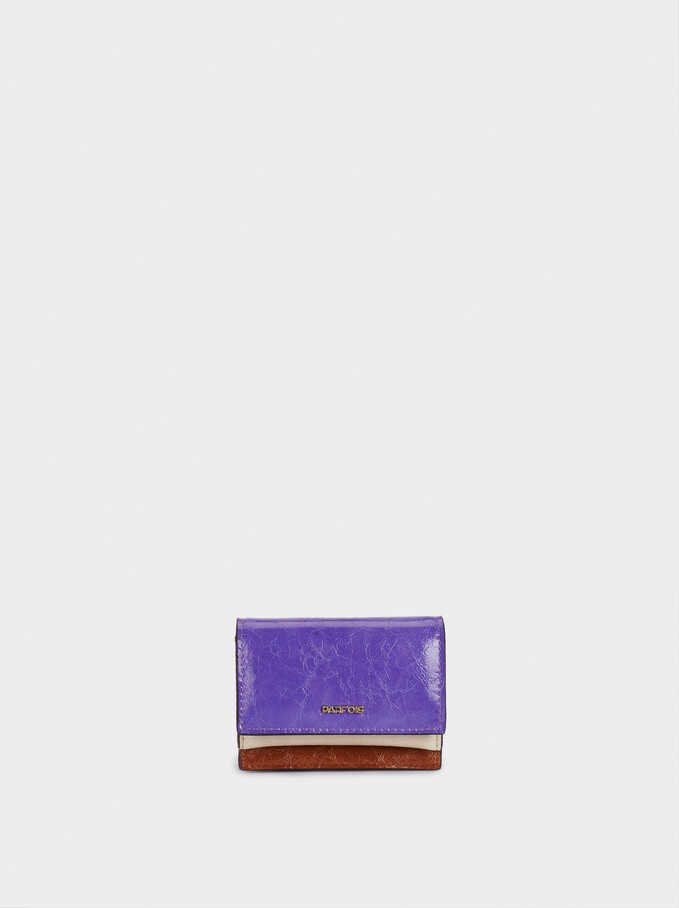 Plain Purse With Card Holder, Violet, hi-res