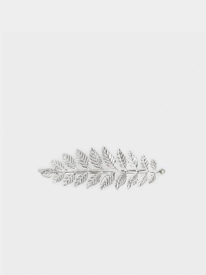Pinza Leaf, Plateado, hi-res