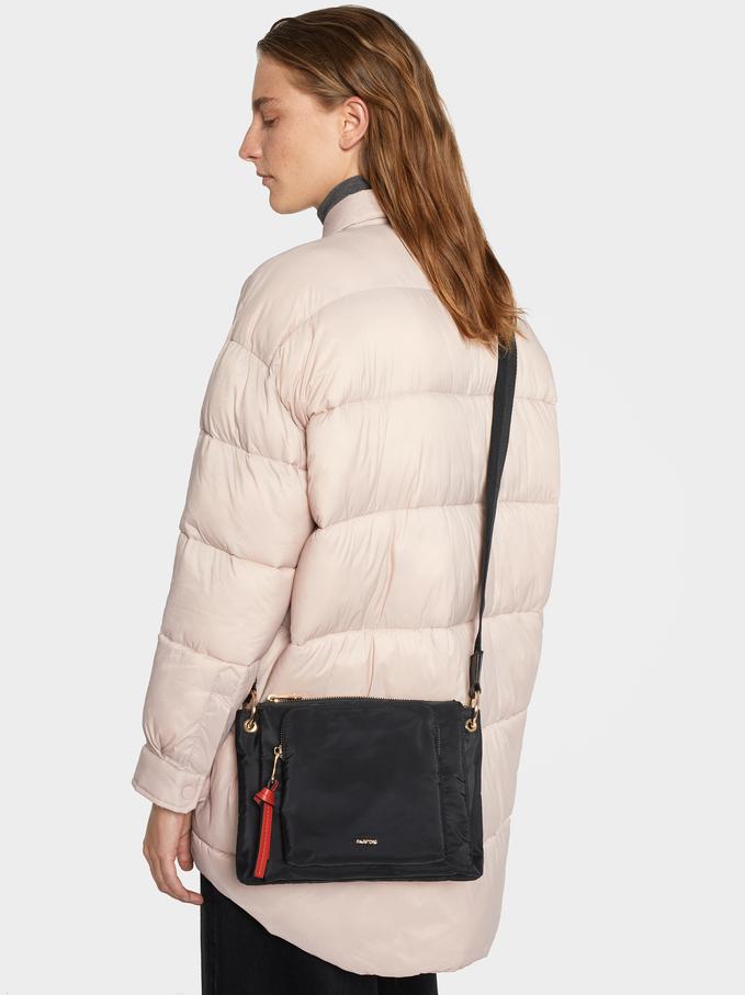 Nylon Crossbody Bag, Black, hi-res