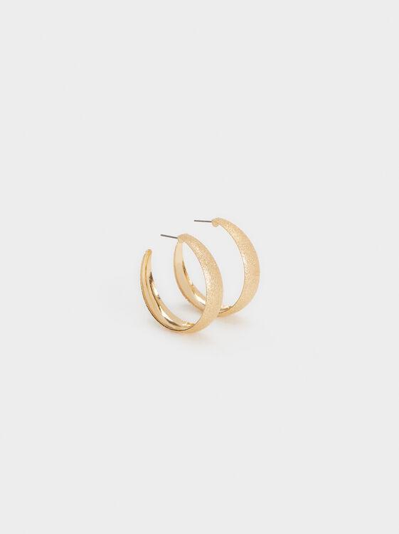 Basic Medium Hoop Earrings, , hi-res