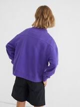 Plain Sweatshirt, Purple, hi-res