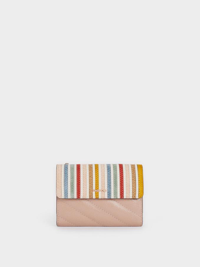 Wallet With Flap Closure, Pink, hi-res