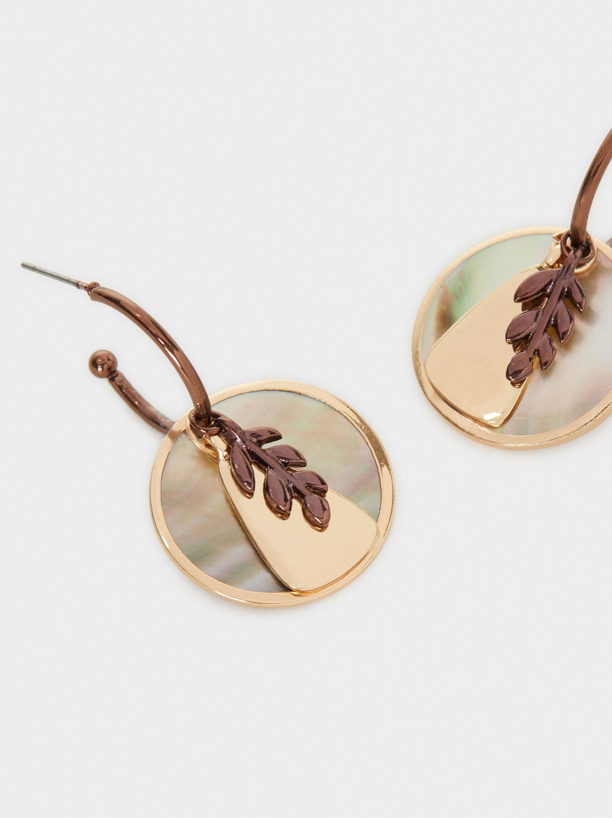 Blog Leaf Drop Earrings, Multicolor, hi-res