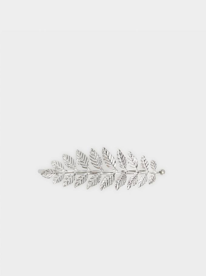 Basic Hair Clip, Silver, hi-res