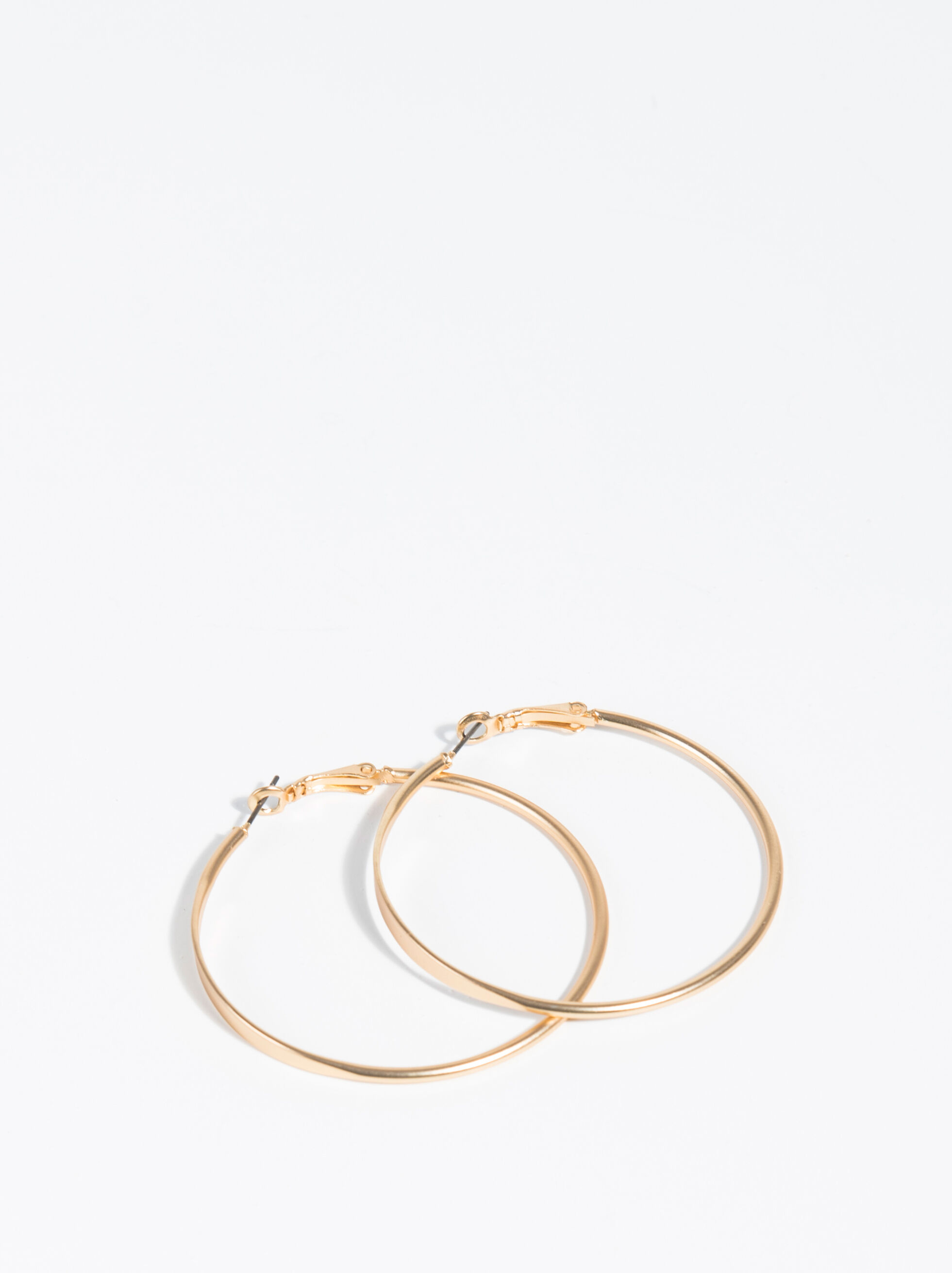 Golden Basics Large Hoop-Earrings, , hi-res