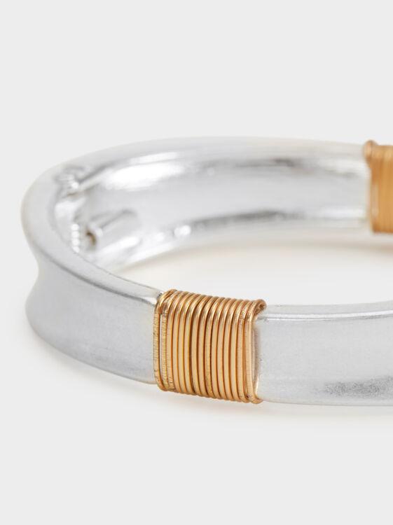 Blog Rigid Bracelet, Silver, hi-res