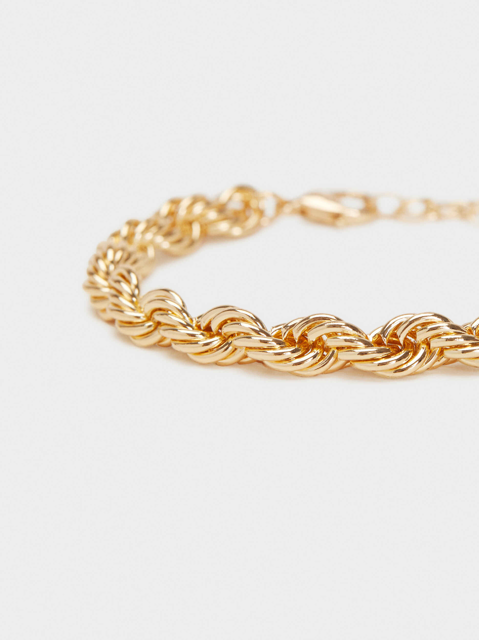 Gold Metal Bracelet, Golden, hi-res