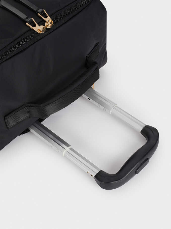 Nylon Suitcase, Black, hi-res