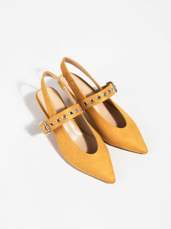 Sapatos Strap Heel, Mostarda, hi-res