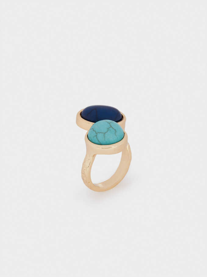 Anillo Con Piedras, Azul, hi-res