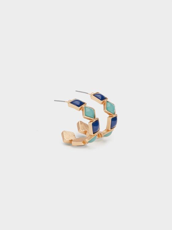 Zorba Medium Hoop Earrings, , hi-res