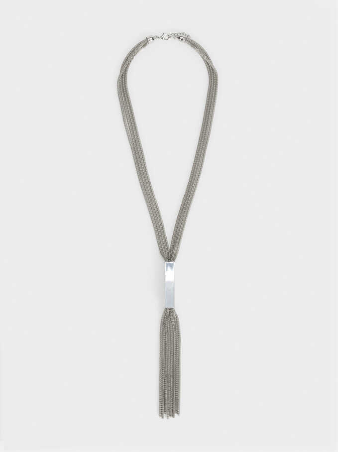 Blog Long Chain Necklace, Silver, hi-res