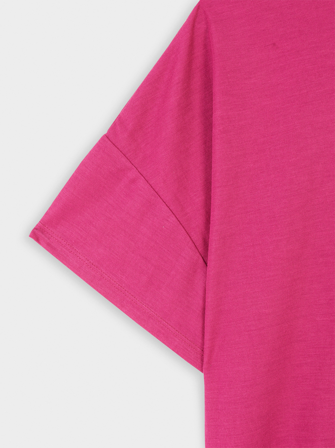 Round-Neck T-Shirt, Pink, hi-res