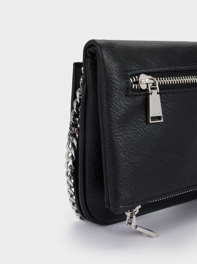 Crossbody Bag With Removable Strap, Black, hi-res