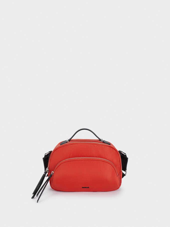 Nylon Crossbody Bag, Orange, hi-res