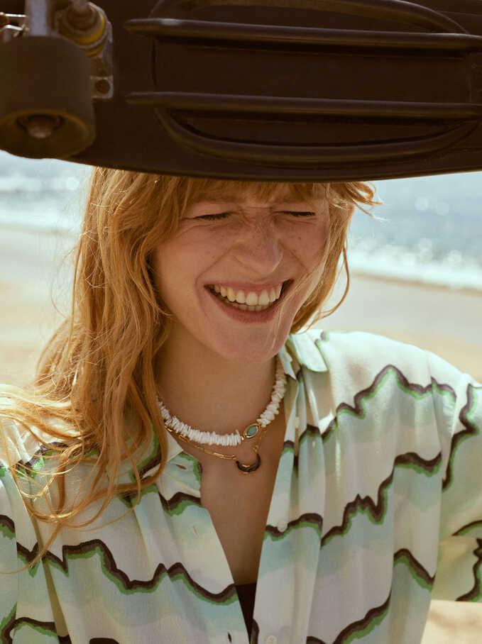 Set Of Contrasting Necklaces, Blue, hi-res