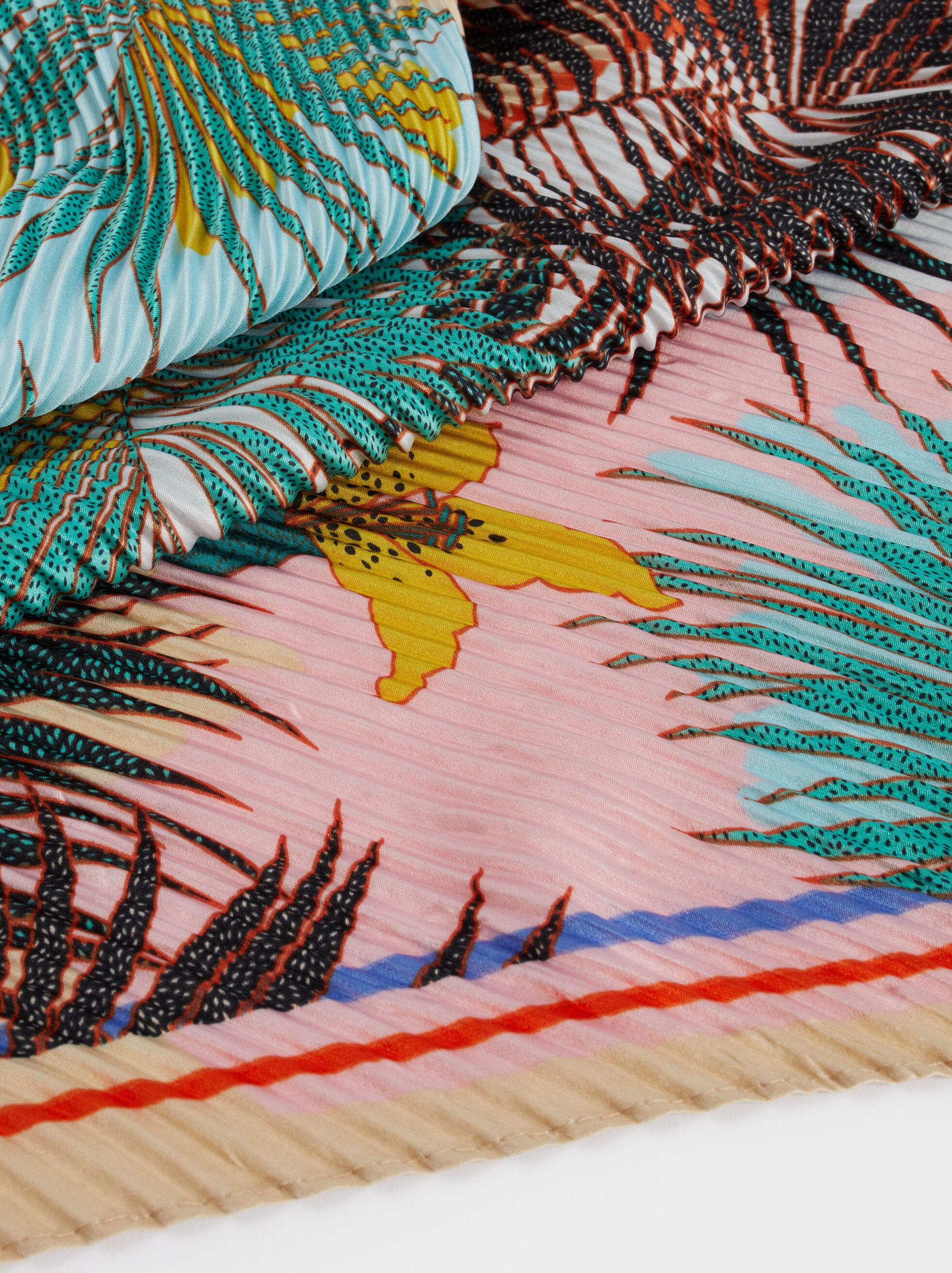 Pañuelo Cuadrado Estampado Floral, Multicor, hi-res