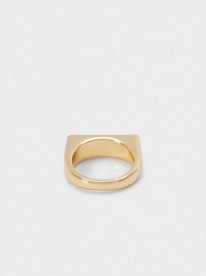 Seashell Signet Ring , Golden, hi-res