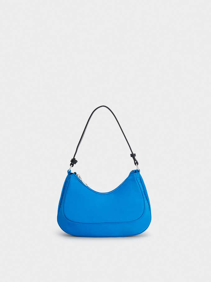Nylon Shoulder Bag, Blue, hi-res