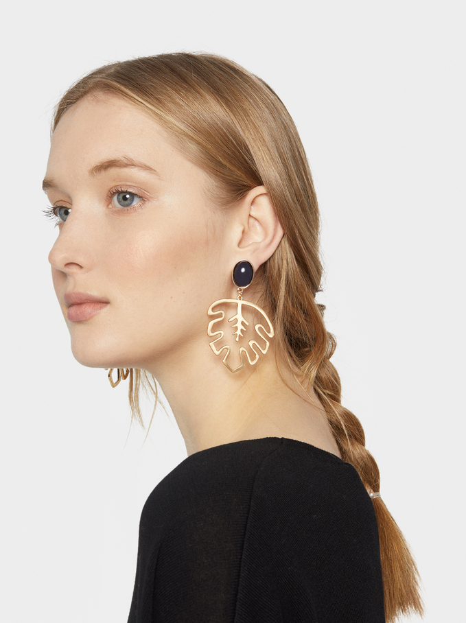 Savage Sparkle Earrings, Blue, hi-res