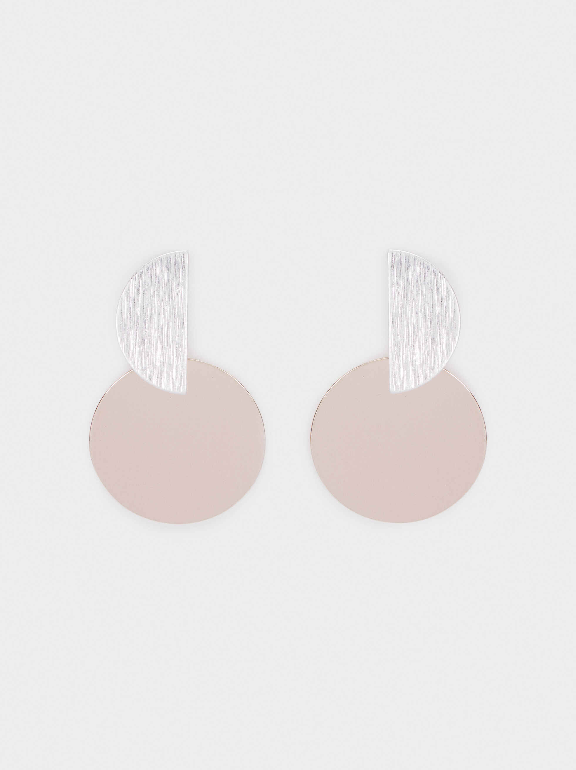 Medium Geometric Earrings, Silver, hi-res