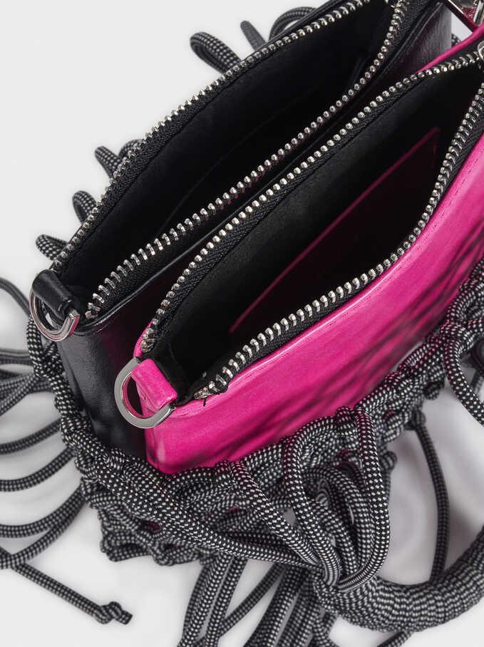 Bucket Bag With Braided Rope Detail, Black, hi-res