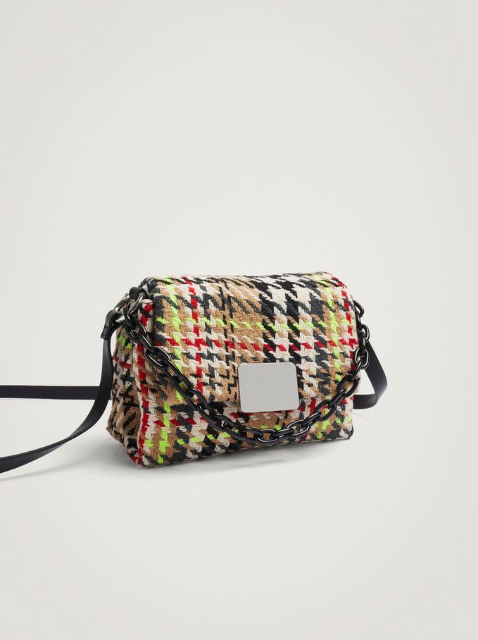 Crossbody Bag With Chain Handle, Beige, hi-res