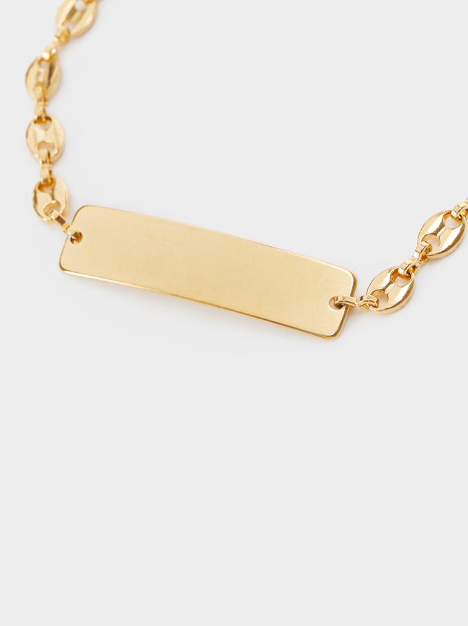 Bracelet En Acier Doré, Doré, hi-res